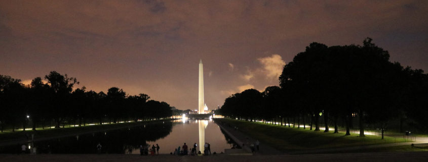 Washington Monument at Night by Valerie Uhlir