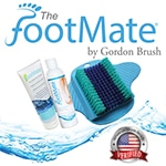 foot massager; foot scrubber; foot cleaner; foot massaging system; foot cleaning system; foot stimulator; American made; Podiatrist recommended; shower foot massager; bath foot massager; shower foot cleaner; bath foot cleaner; beautiful feet