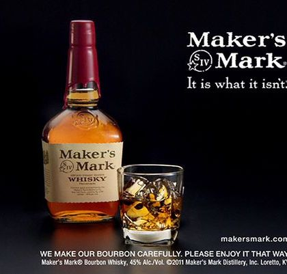 A still frame image made from video provided by Maker's Mark Distillery Inc., shows a bottle of Maker's Mark in an advertisement. (AP Photo/Marker's Mark Distillery Inc., File) ORG XMIT: NY119 (Photo: AP)