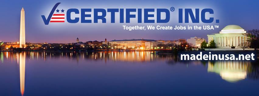 Made in USA Certified, American made certified, Made in USA, American Made, Made in America