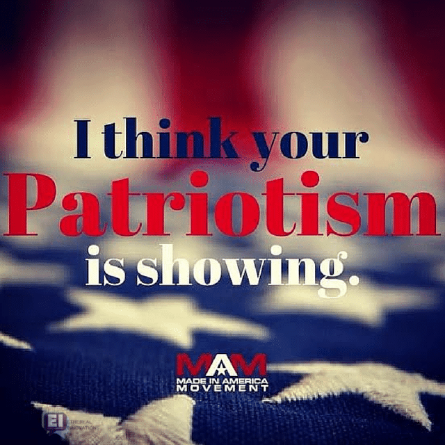 I think your patriotism is showing, Made in USA Jeans, Made in USA shoes, American made jeans, american made shoes