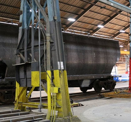 A plant in Wilmington, N.C., which used to make construction cranes, now manufactures rail cars.