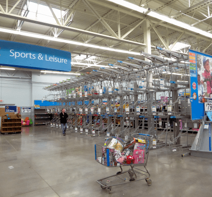 (Nicholas Eckhart) A Walmart store that's about to close.