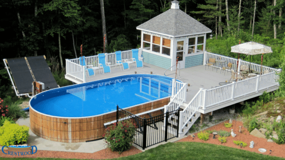 Crestwood Pool, above ground pool, American made pool, made in usa pool, made in america pool,