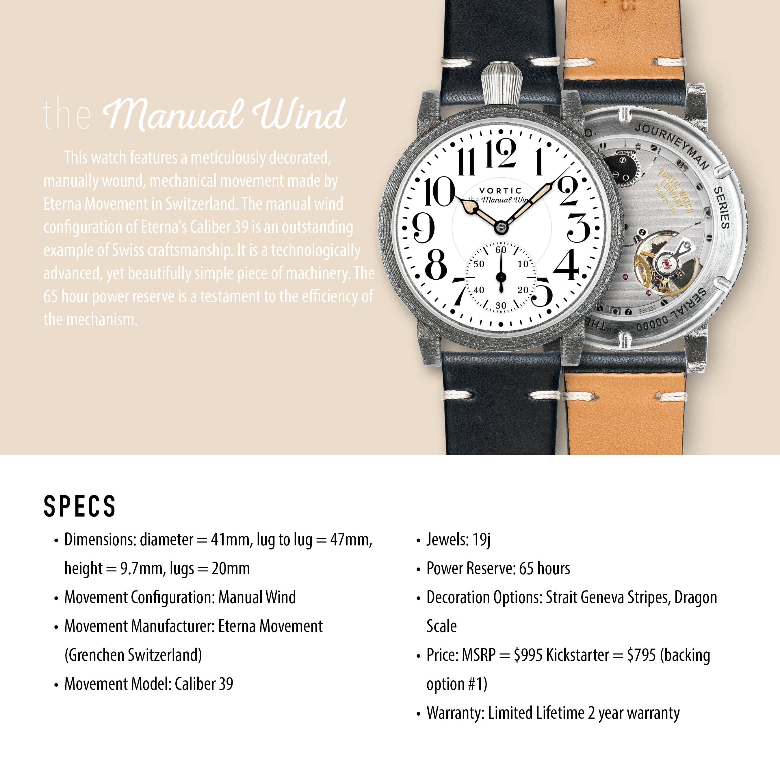 Vortic Watches, made in usa, made in america, american manufacturing, journeyman series, American made watch