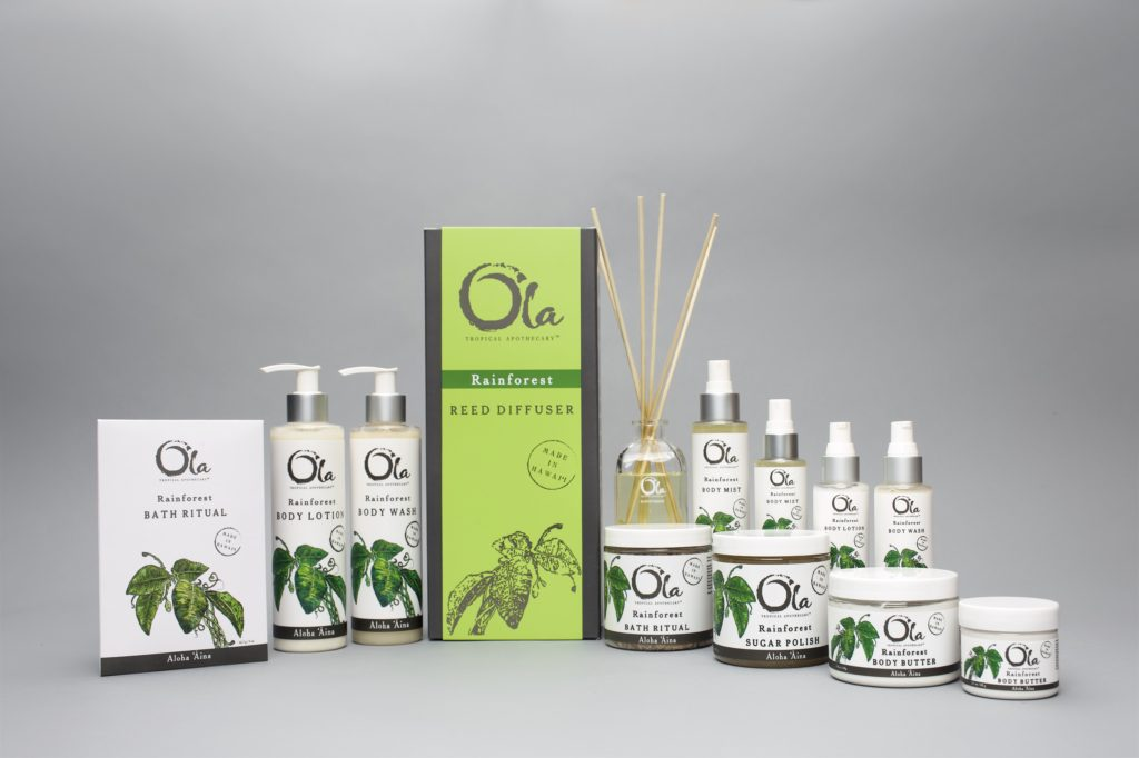 Artisan Wild Crafted Natural Beauty Products from This Land of Aloha, Hawaiian Body Products, Ola Tropical Apothecary, made in usa skin care, american made skin care, organic skin care, rainforest collection