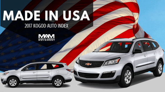 Made In Usa The 2017 Most American Vehicles Are