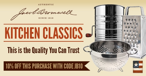 Jacob Bromwell made in usa kitchen, black friday, small business Saturday, cyber monday, american made kitchen
