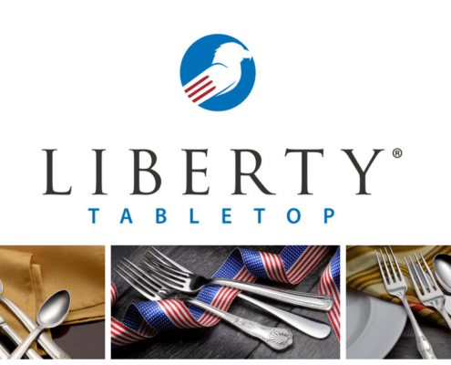 Liberty Tabletop, Made in USA flatware, american made flatware, buy american flatware, who makes made in usa flatware, who makes flatware in the USA, liberty tabletop sets an american made holiday table