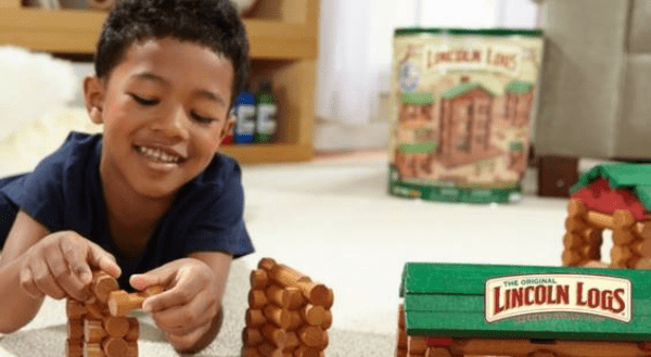 Lincoln Logs, made in usa lincoln logs, made in america lincoln logs, american made lincoln logs, made in usa toys, Steamagination, k-force, building sets, made in usa building set, mighty makers, mario kart, super mario, lincoln logs made in usa, tinkertoy made in usa, Christmas Gift, american list, shop Made in USA