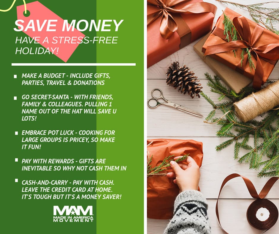 made in usa christmas budget, christmas countdown checklist, save money, stress-free christmas, secret-santa
