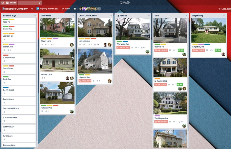 Best real estate software - Trello