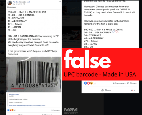 UPC barcode made in America myth is false
