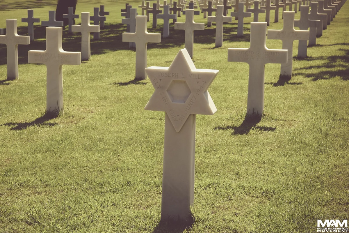 memorial-day-traditions-Colleville-sur-Mer-France-star-of-david